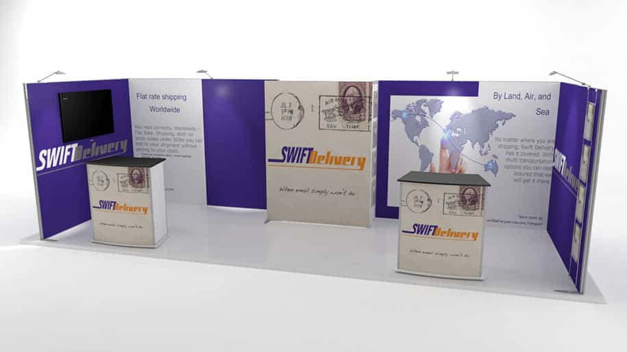 Swift Delivery ISOframe Fabric 2x6 Display