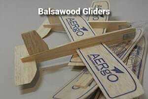 Balsawood gliders