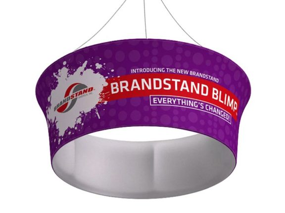 Waveline Blimp™ Hanging Banner - Circle Tube Tapered